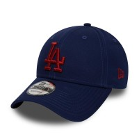 NEW ERA 9FORTY LEAGUE ESSENTIAL LA DODGERS DARK ROYAL/HOT RED