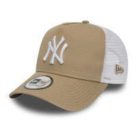 NEW ERA LEAGUE ESSENTIAL A-FRAME TRUCKER NY YANKEES CAMEL/WHT