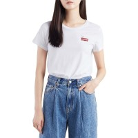 LEVIS PEANUTS HSMK CHEST W TEE WHITE