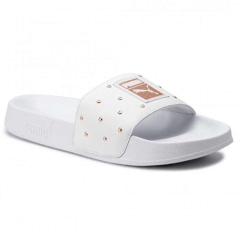 rose gold puma slippers