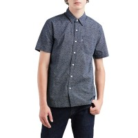 LEVIS SUNSET 1 POCKET SS SHIRT MICROSTARS DRESS BLUES