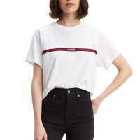 LEVIS GRAPHIC VARSITY TEE TEXT TAPE WHITE