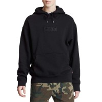 LEVIS RELAXED GRAPHIC HOODIE SSNL BABYTAB TECH MINERAL BK