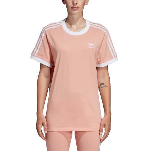 ADIDAS 3 STRIPES W TEE DUST PINK Women T-Shirts