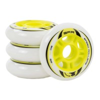 SFR INLINE WHEELS WHITE/YELLOW 80mm