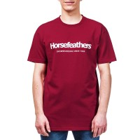 HORSEFEATHERS QUARTER T-SHIRT RED
