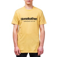 HORSEFEATHERS QUARTER T-SHIRT BUFF YELLOW