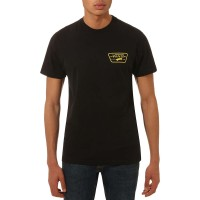 VANS FULL PATCH BACK TEE BLACK/SULPHUR