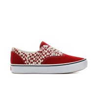 VANS COMFYCUSH ERA SHOES TEAR CHECK RACING RED/WHITE