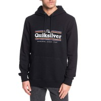 QUIKSILVER GET BUZZY SCREEN FLEECE BLACK
