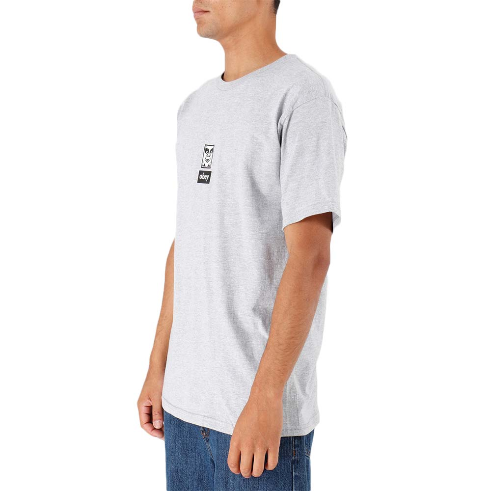 T-shirt Obey ICON FACE 30 YEARS BASIC TEE Grigio 163082253 HEA Uomo