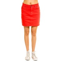 WAXX BELLA JOGGJEAN SKIRT RED