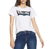 LEVIS THE PERFECT W TEE FLORAL FILLED BATWING WHITE