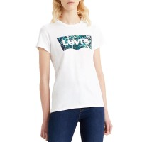 LEVI'S® THE PERFECT W TEE BATWING GREENERY FILL WHITE