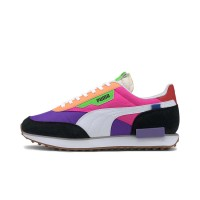 PUMA FUTURE RIDER PLAY ON SHOES LUMINOUS PURPLE/FLUO PINK