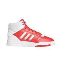 ADIDAS DROP STEP SHOES FTWWHT/GLORED/FTWWHT