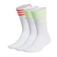 ADIDAS SOLID CREW 3PACK SOCKS WHITE