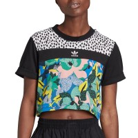 ADIDAS HER STUDIO LONDON CROPPED TEE MULTICOLOR