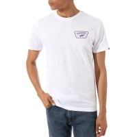 VANS FULL PATCH BACK TEE WHITE/HELIOTROPE