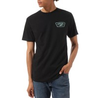 VANS FULL PATCH BACK TEE BLACK/DUSTY JADE GREEN