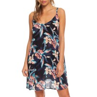 ROXY BE IN LOVE DRESS ANTHRACITE TROPICOCO