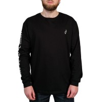 THE DUDES OKAY LONGSLEEVE T-SHIRT BLACK