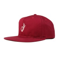 THE DUDES OKAY UNSTRUCTURED 5 PANEL CAP MAROON
