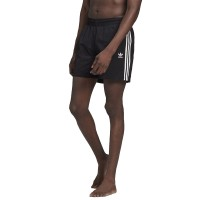 ADIDAS ADICOLOR CLASSICS 3-STRIPES SWIM SHORTS BLACK