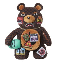 SPRAYGROUND TRAVEL PATCHES BEAR BACKPACK