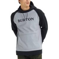 BURTON CROWN BONDED FW19 PULLOVER HOODIE GREY HEATHER/TBLK