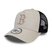 NEW ERA LEAGUE ESSENTIAL TRUCKER BOSTON RED SOX STONE/NAVY