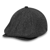 NEW ERA HERRINGBONE NEWSBOY GRAY