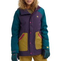 BURTON EASTFALL W SNOW JACKET PURPLE VELVET/DEEP TEAL/EVILO