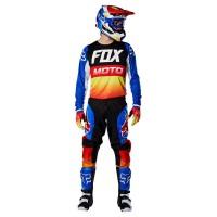 FOX 180 FYCE JERSEY/PANTS SET BLUE/RED