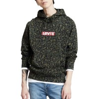 LEVIS BOX LOGO GRAPHIC HOODIE CHEETAH OLIVE