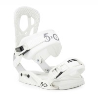 DRAKE FIFTY W20 SNOWBOARD BINDING WHITE