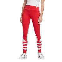 ADIDAS LARGE LOGO TIGHTS LUSH RED/WHITE