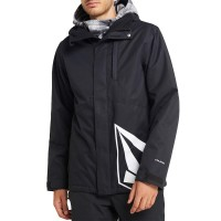 VOLCOM 17 FORTY INS FW19 SNOW JACKET BLACK