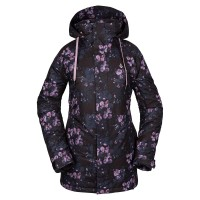 VOLCOM WESTLAND INSULATED W SNOW JACKET BLACK FORAL PRINT