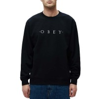 OBEY NOUVELLE II CREW BLACK