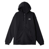 OBEY EYES 3 BASIC ZIP HOODIE BLACK