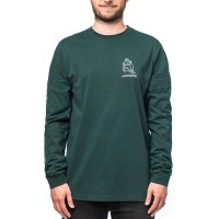 HORSEFEATHERS DOODLE LUCAS L/S T-SHIRT BISTRO GREEN