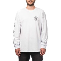 HORSEFEATHERS ERISS ATRIP HALLDOR L/S T-SHIRT WHITE