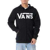 VANS CLASSIC II ZIP HOODIE BLACK/WHITE