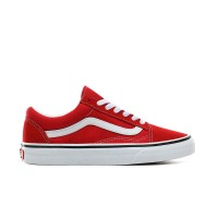 VANS OLD SKOOL SHOES RACING RED/TRUE WHITE