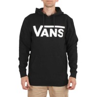 VANS CLASSIC II HOODIE BLACK/WHITE