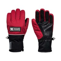 DC FRANCHISE YOUTH SNOW GLOVES RACING RED