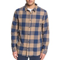 QUIKSILVER MOTHERFLY FLANNEL LS SHIRT CARIBOU