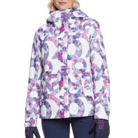 ROXY JETTY SNOW JACKET BRIGHT WHITE FAMOUS ALPHABET