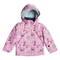 ROXY MINI JETTY SNOW JACKET GIRLS PRISM PINK SNOW TRIP